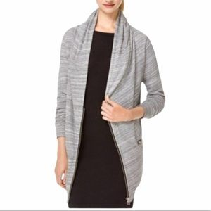 WILFRED FREE 'Rousseau' Grey Marled Zip Front Sweater Cardigan XS